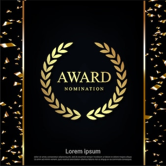 Luxury award nomination background.