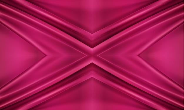 Sfondo di lusso 3d illustrazione realistica tessuto roteato