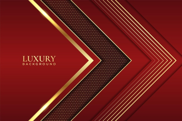 Luxury background abstract elegant arrow geometric shiny line gold with maroon
