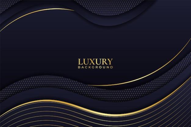 Luxury background abstract elegant minimalist dynamic shiny line gold with navy