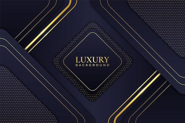 Luxury background abstract elegant minimalist geometric shiny line gold with navy