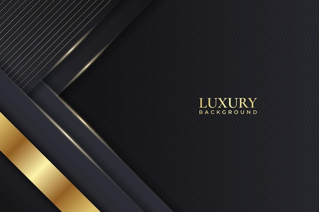 Luxury background dark overlapped diagonal layer with elegant shiny golden line