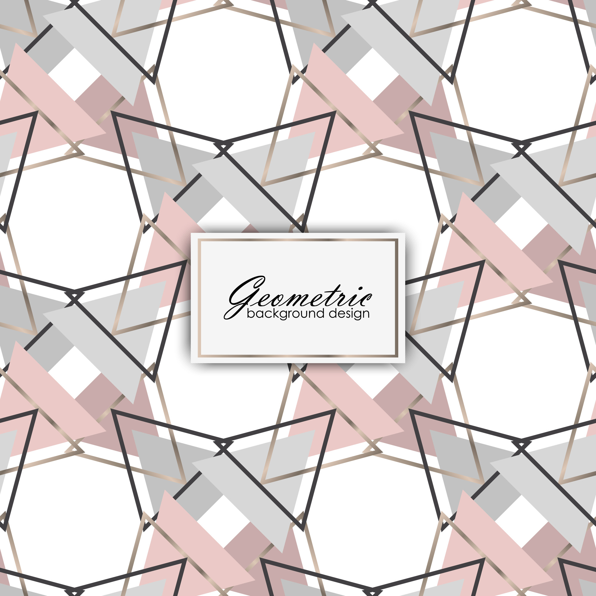 Luxury background design with geometric elements