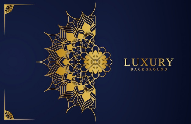 Luxury background design with mandala flower for book cover, wedding card, invitation card,  flyer, poster, background template