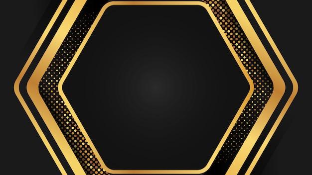 豪華な背景イラストの黄金と黒
