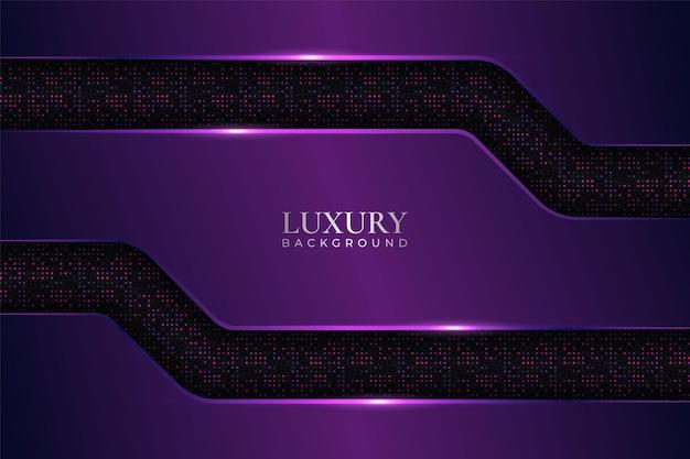Luxury background minimalist glossy metallic with glow purple in dark