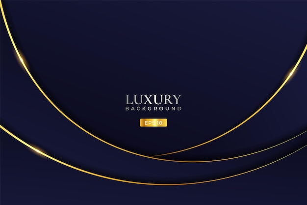Luxury background modern minimalist abstract dynamic wave blue with shiny golden line