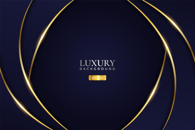 Luxury background modern minimalist abstract dynamic wave with shiny golden line