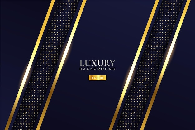Luxury background modern realistic diagonal golden layer with glitter effect