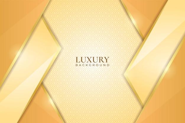 Luxury background soft shiny geometric golden overlapped shape with ball