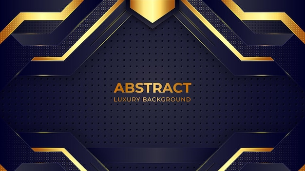 Luxury background template with golden pattern.