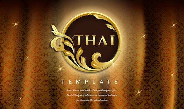 Роскошный фон тайская традиционная концепция искусство тайланда бесшовный фон