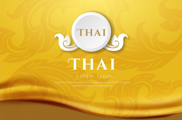 Роскошный фон, тайская традиционная концепция искусство тайланда.
