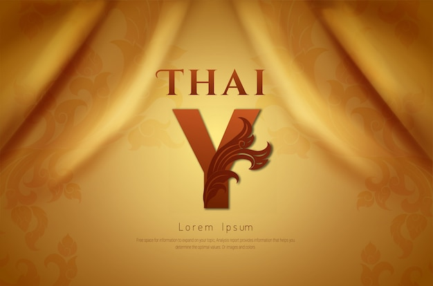 Luxury background, thai traditional concept.