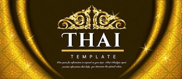 Роскошный фон, тайская традиционная концепция.