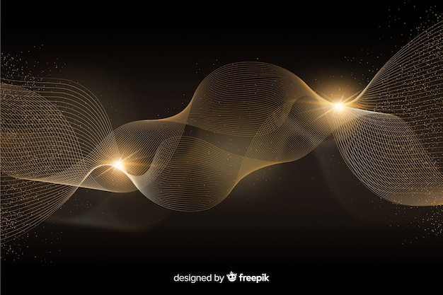 Luxury background with abstract golden wave