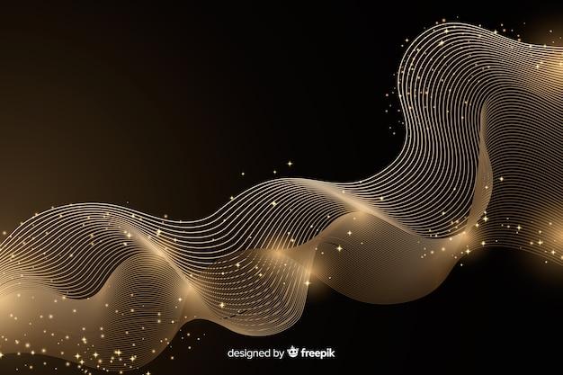 Роскошный фон с абстрактной золотой волной