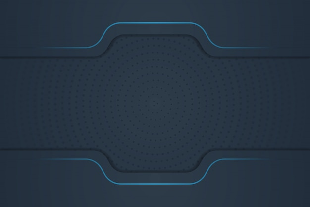 Luxury background with abstract shape, blue line, and halftone gradient