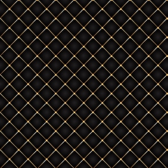 Luxury background with a black and gold quilted design
