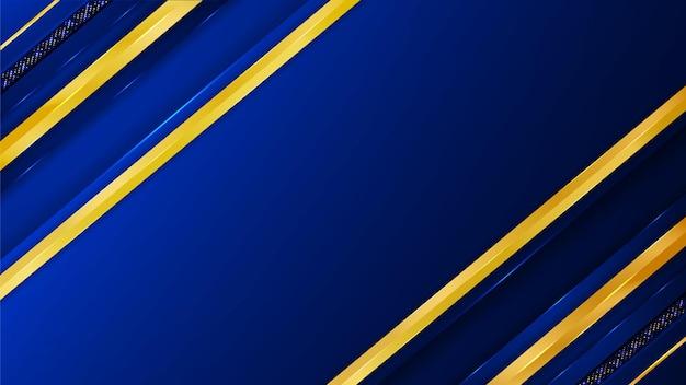 Роскошный фон с синими и золотыми формами