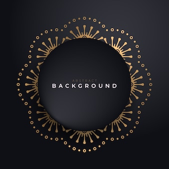 Luxury background with circle gold frame