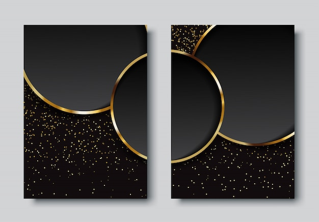 Luxury background with circles set