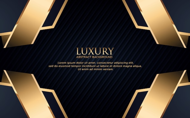 Luxury background with geometric shape and golden stripe