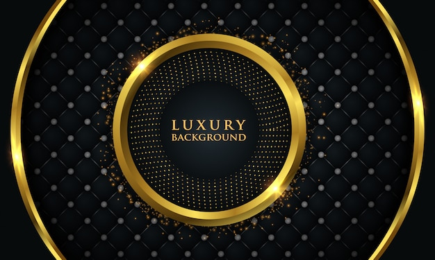 Luxury background with gold glowing circle