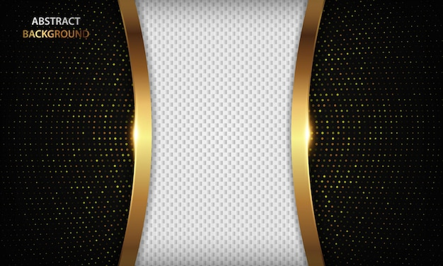 Luxury background with gold line and sparkle decoration