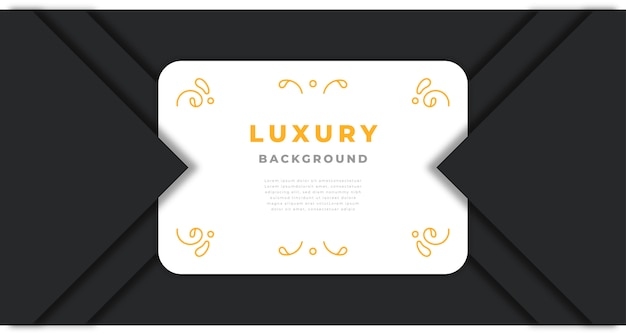 Luxury background with golden abstract shapes and ornaments