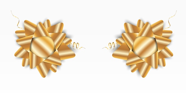 Luxury background with a golden bow on a transparent background.gold bow.
