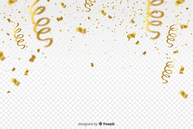 Luxury background with golden confetti