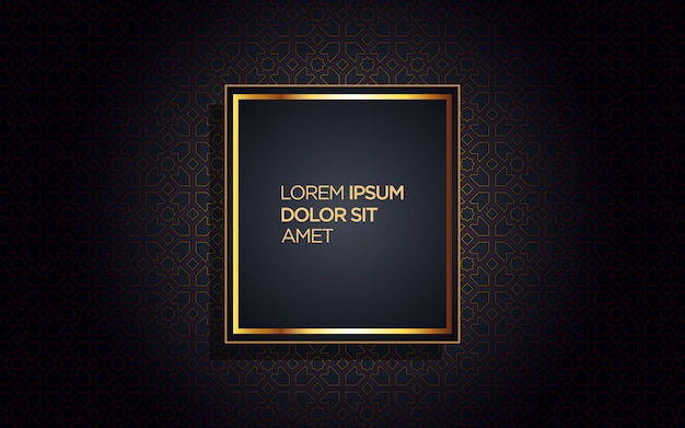 Luxury background with golden frame and abstract design