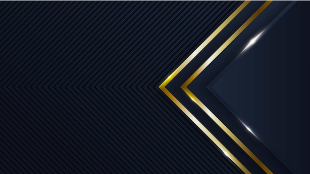 Luxury background with golden geometric shapes premium vector