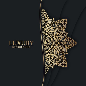 Luxury background with golden mandala