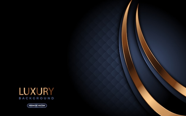Luxury background with golden modern shapes.