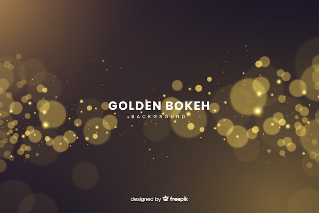 Luxury background with golden particles bokeh