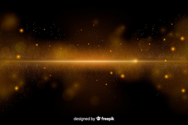 Luxury background with golden particles