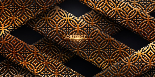 Luxury background with golden pattern.