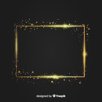 Luxury background with golden sparkling frame