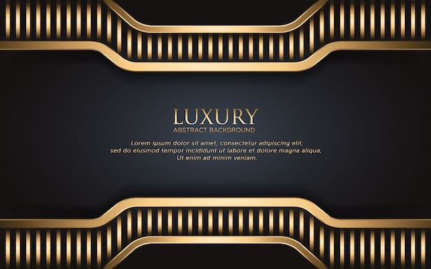 Luxury background with golden stripe