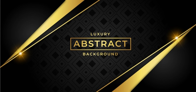 Luxury background with golden vector