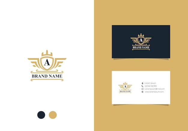 Luxury badge logo design and business card