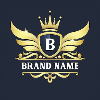 Luxury badge logo design