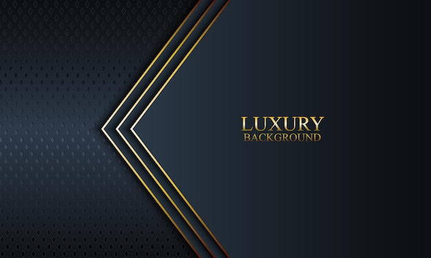 Luxury banner background with dark navy and stripes and golden lines. vector illustration.