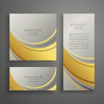 Элегантная абстрактная карточка премиум-класса или баннера в золоте и серебре