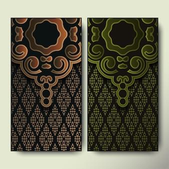 럭셔리 배너 장식 패턴 디자인 배경