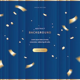 Роскошный баннер с классическим синим и золотым цветом