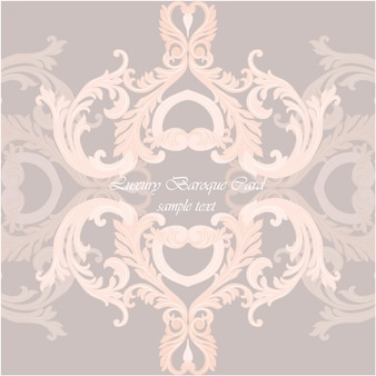 Luxury baroque card