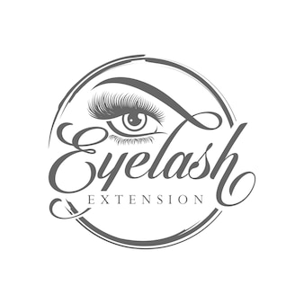Luxury beauty eyelash logo design